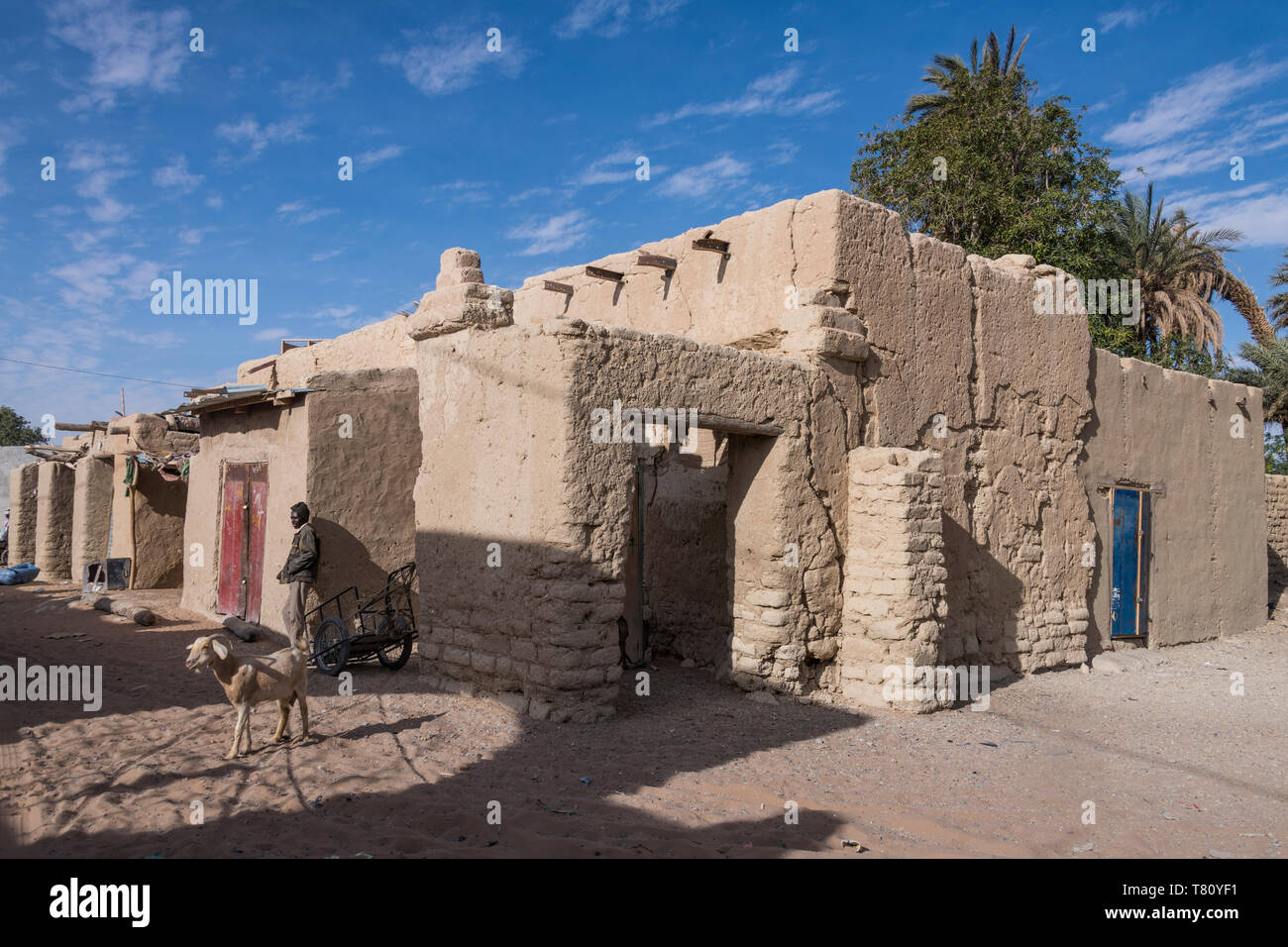The desert town of Faya-Largeau, northern Chad, Africa - Stock Image