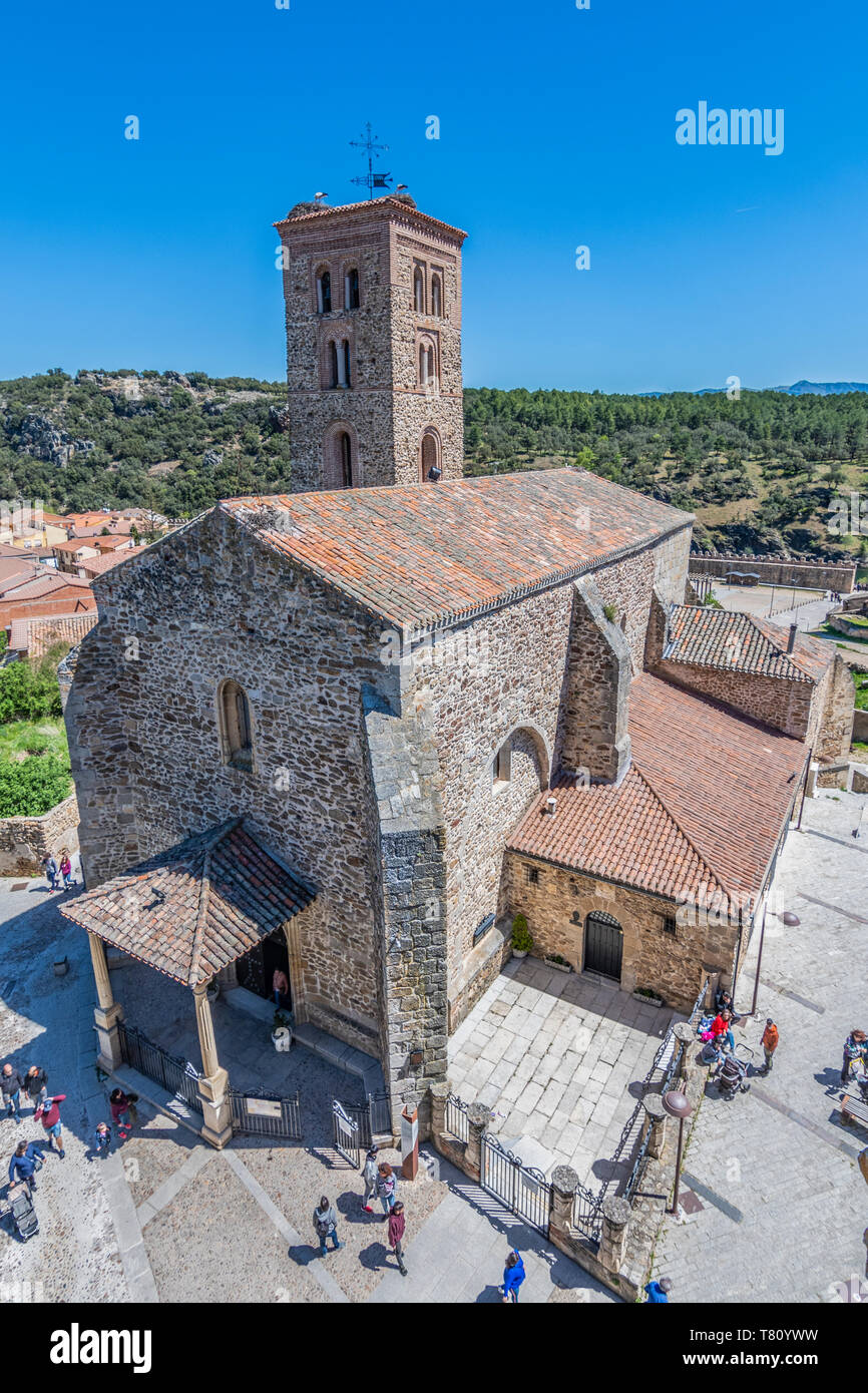 Santa Maria del Castillo church in the medieval city of Buitrago de Lozoya. Sierra of Guadarrama. Madrid. Spain. Stock Photo