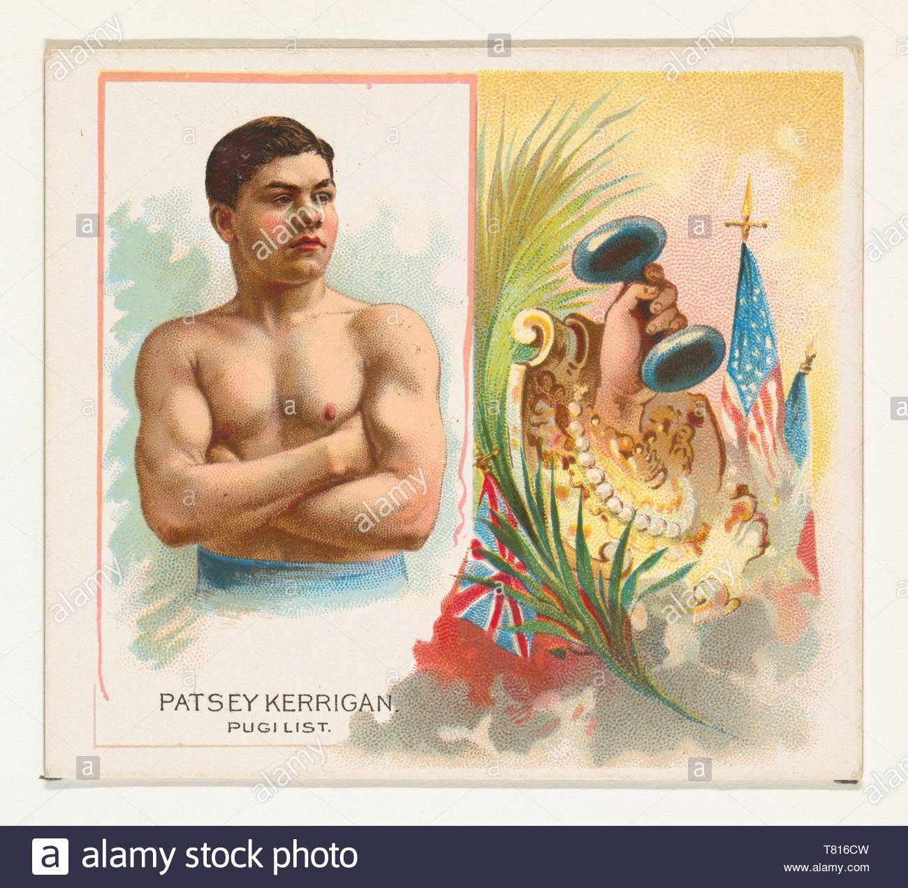 Allen  , Ginter-Patsey Kerrigan, Pugilist, from World ,#39,s Champions, Second Series (N43) for Allen  ,amp, Ginter Cigarettes - Stock Image