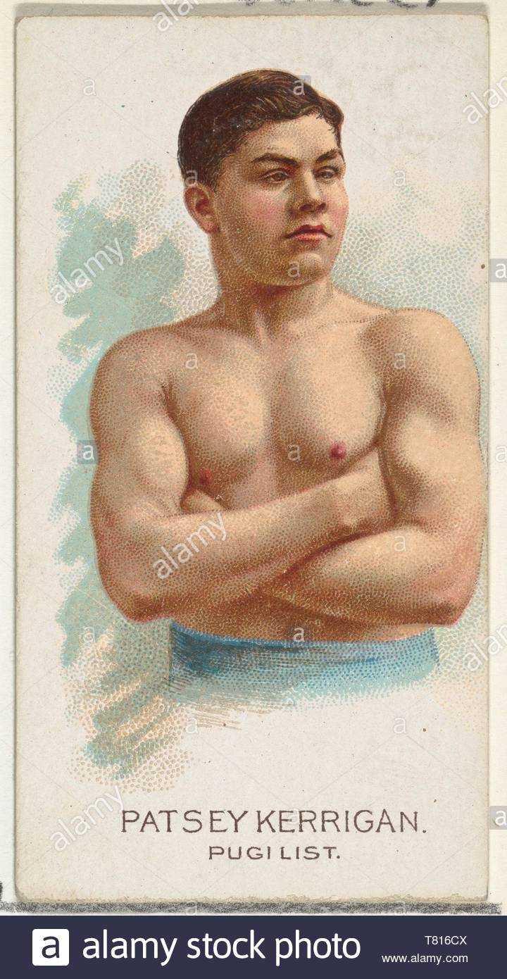 Allen  , Ginter-Patsey Kerrigan, Pugilist, from World ,#39,s Champions, Series 2 (N29) for Allen  ,amp, Ginter Cigarettes - Stock Image