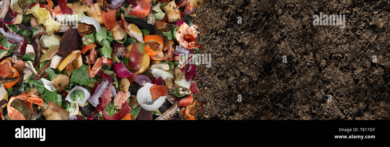 Compost And Composted Soil As A Composting Pile Of Rotting Kitchen Scraps With Fruits And Vegetable Garbage Waste Turning Into Organic Fertilizer Stock Photo Alamy