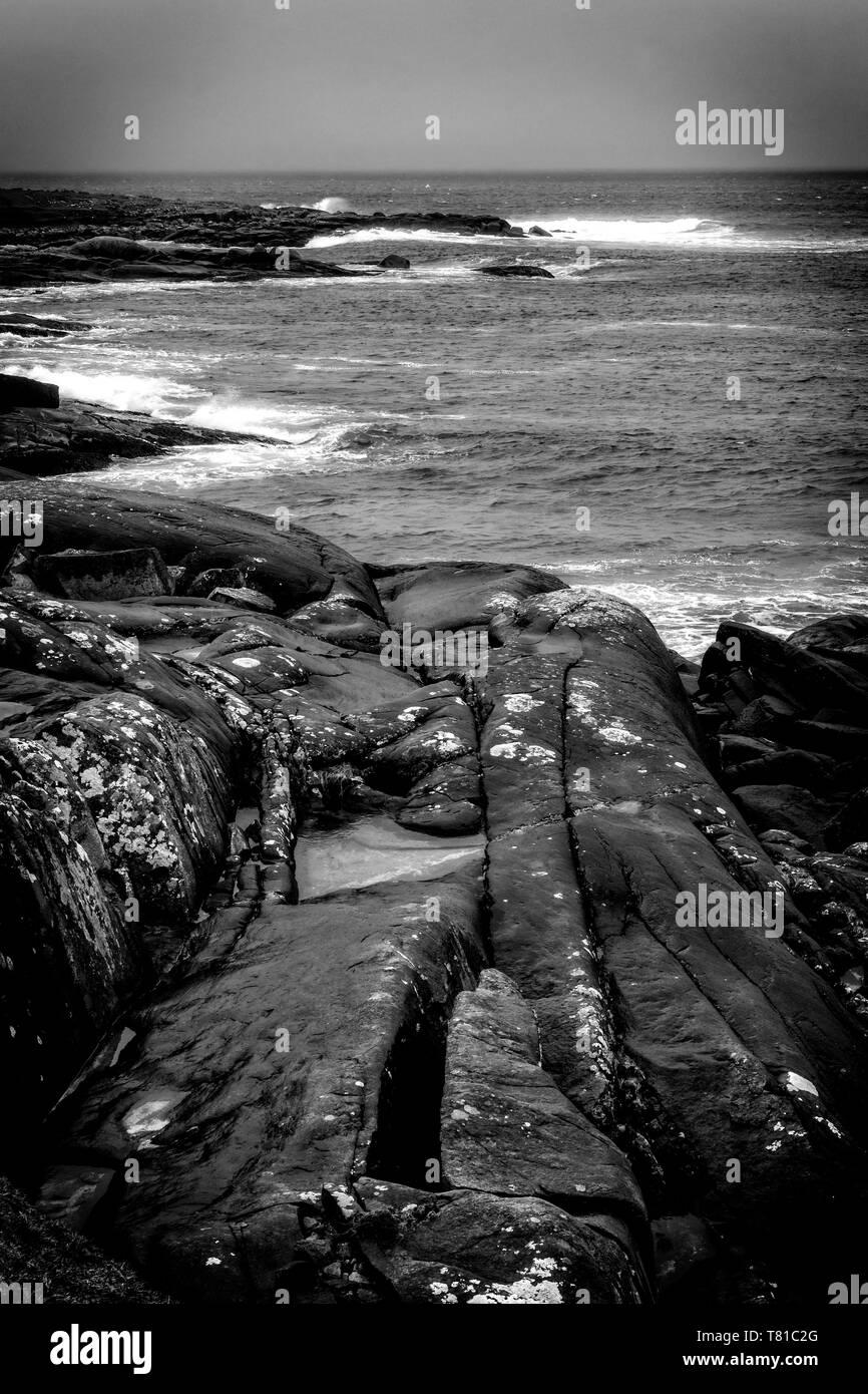High Tide, Seilebost Beach, Isle of Harris, Outer Hebrides, Scotland UK - Stock Image