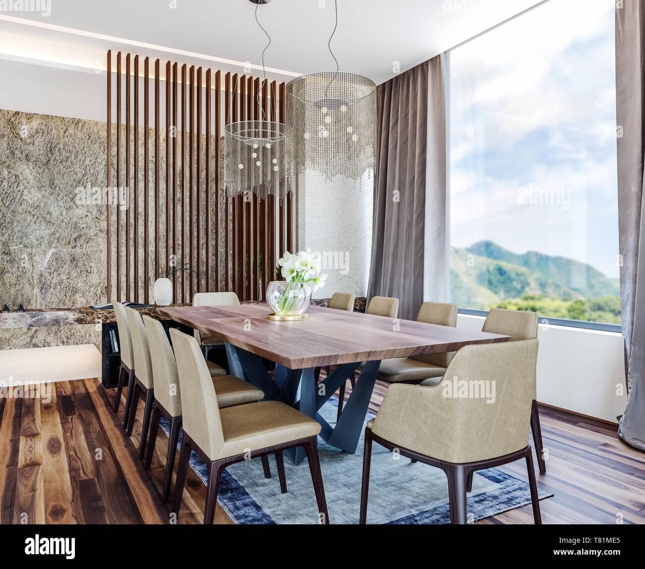 Modern Italian interior design of contemporary dining room ...