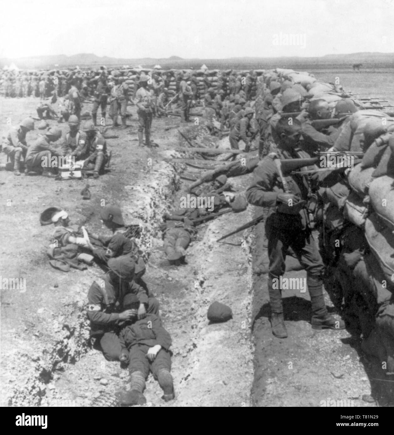 Boer War, Royal Munster Fusiliers Redoubt, 1900 - Stock Image