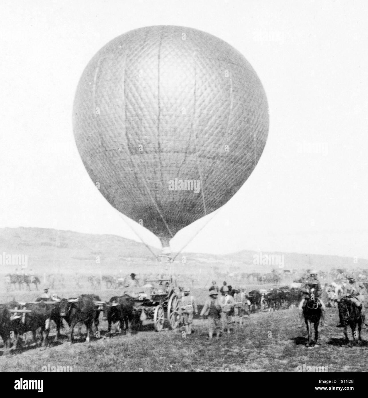 Boer War, Balloon Corps, 1900 - Stock Image