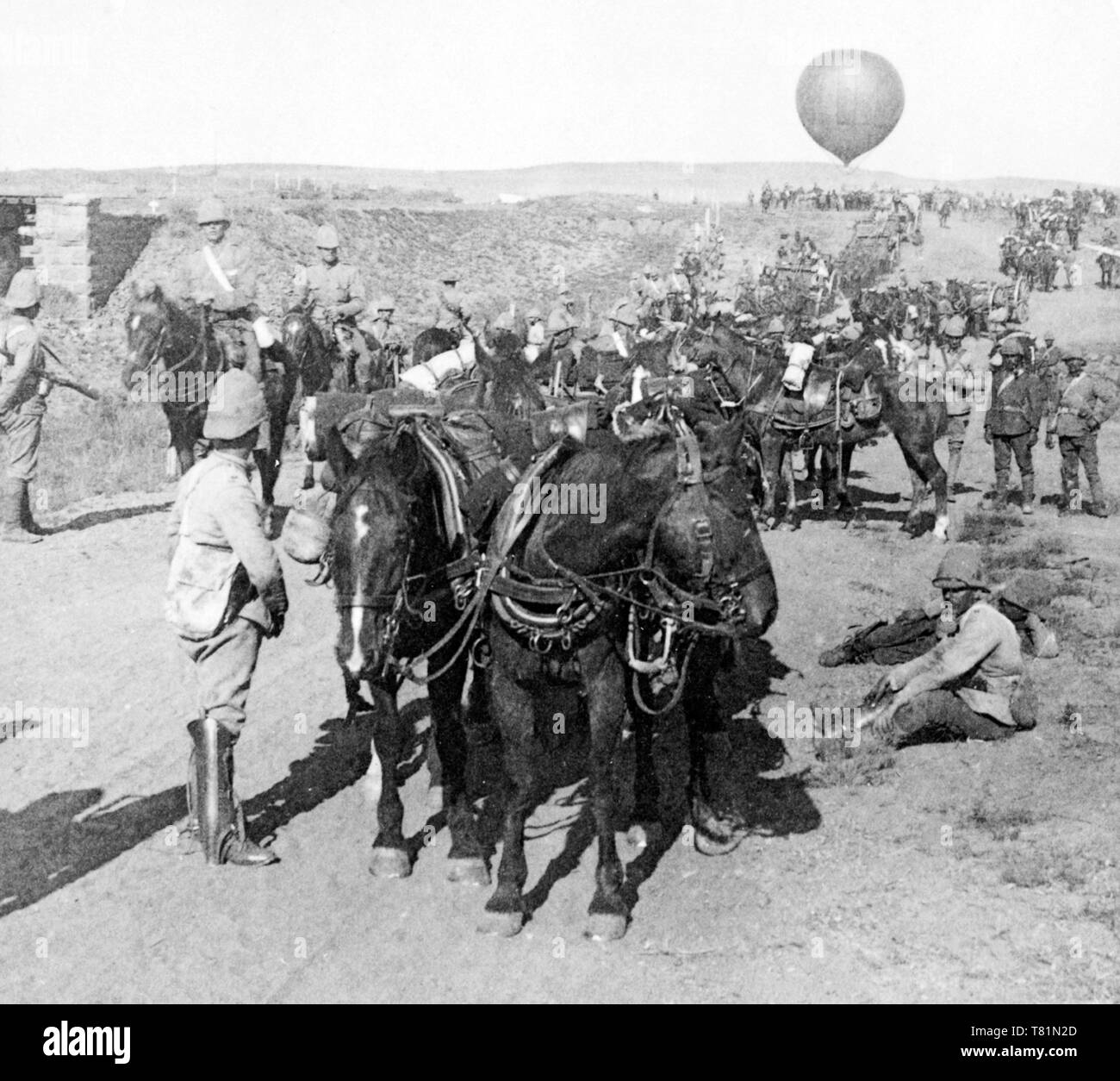 Boer War, British Army and Balloon Corps, 1900 - Stock Image