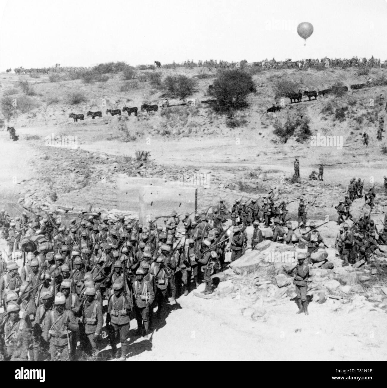 Boer War, British Army Cross Zand River - Stock Image