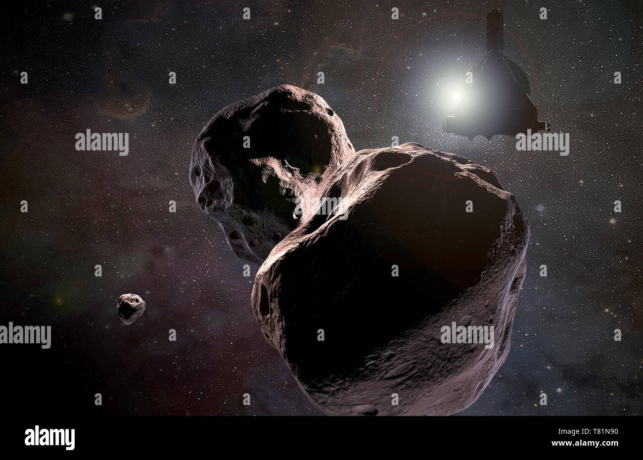 Ultima Thule Visited by New Horizons Probe, Illustration - Stock Image