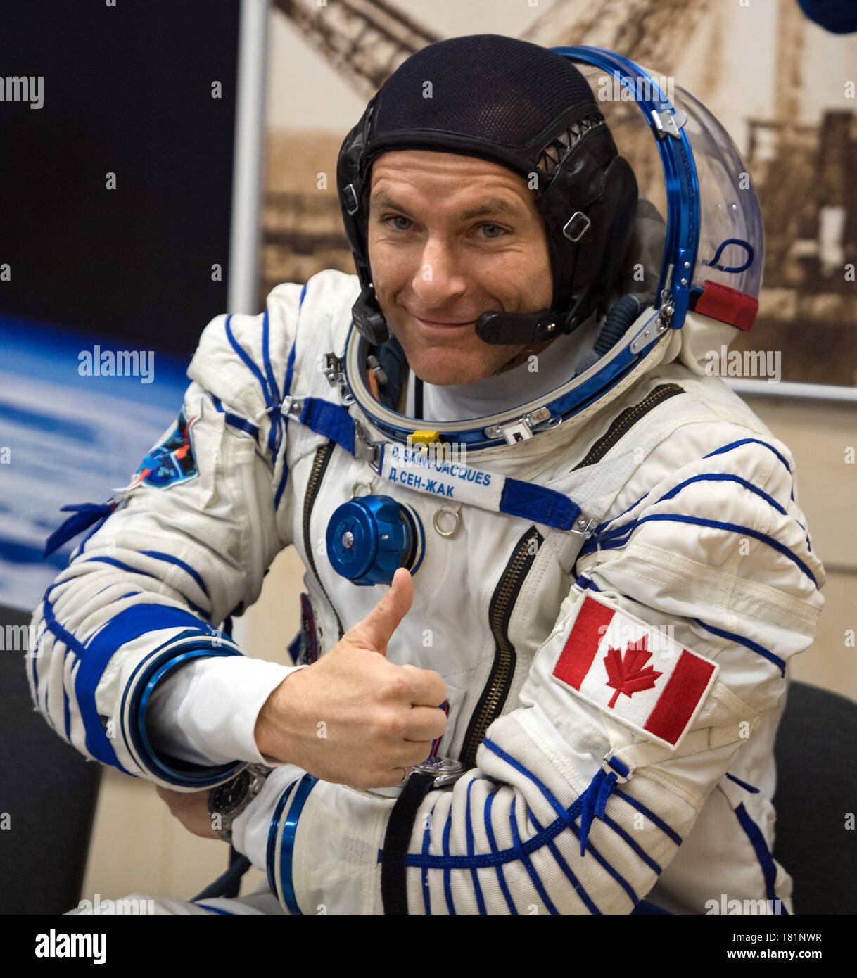 Astronaut David Saint-Jacques, ISS Expedition 58 - Stock Image