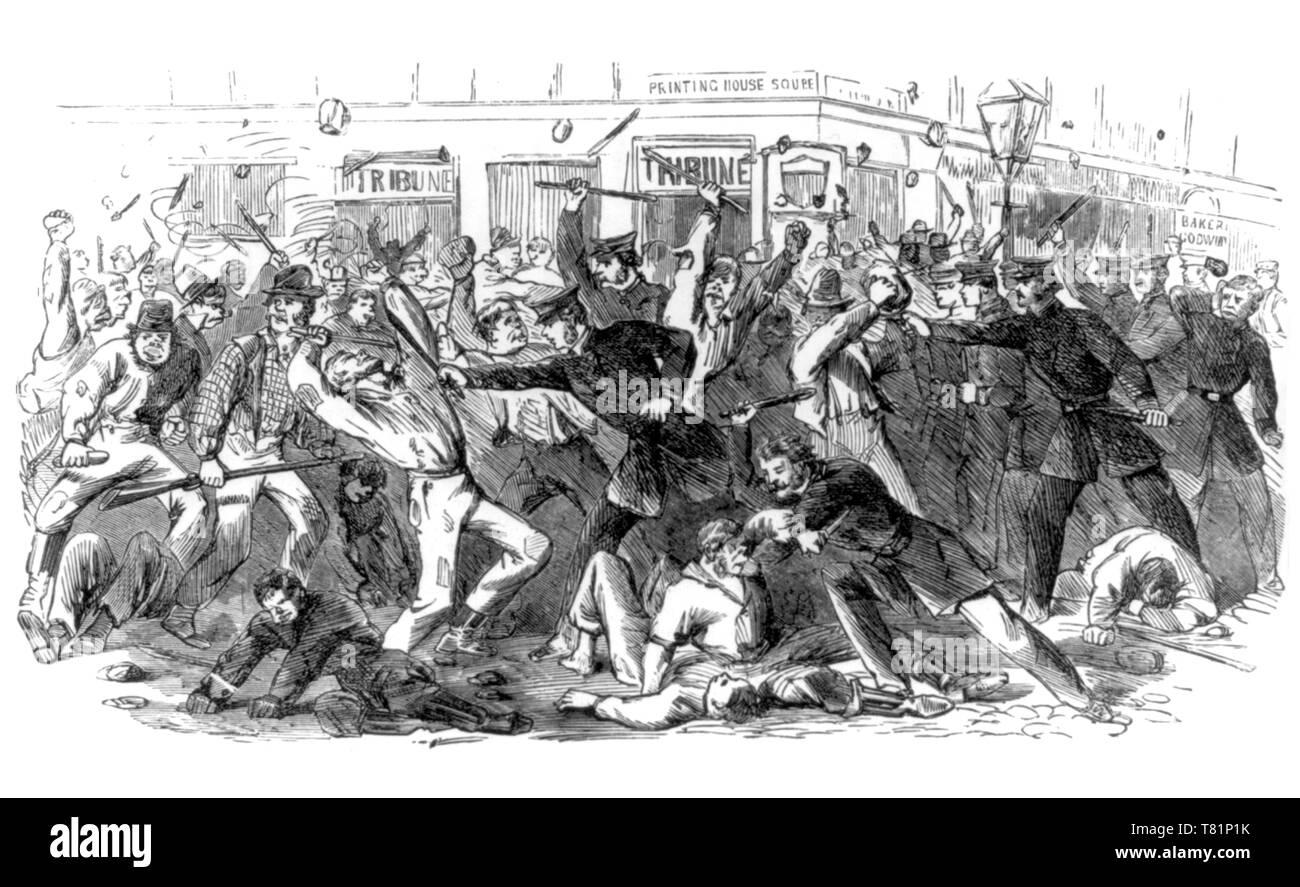 New York City Draft Riots, 1863 - Stock Image
