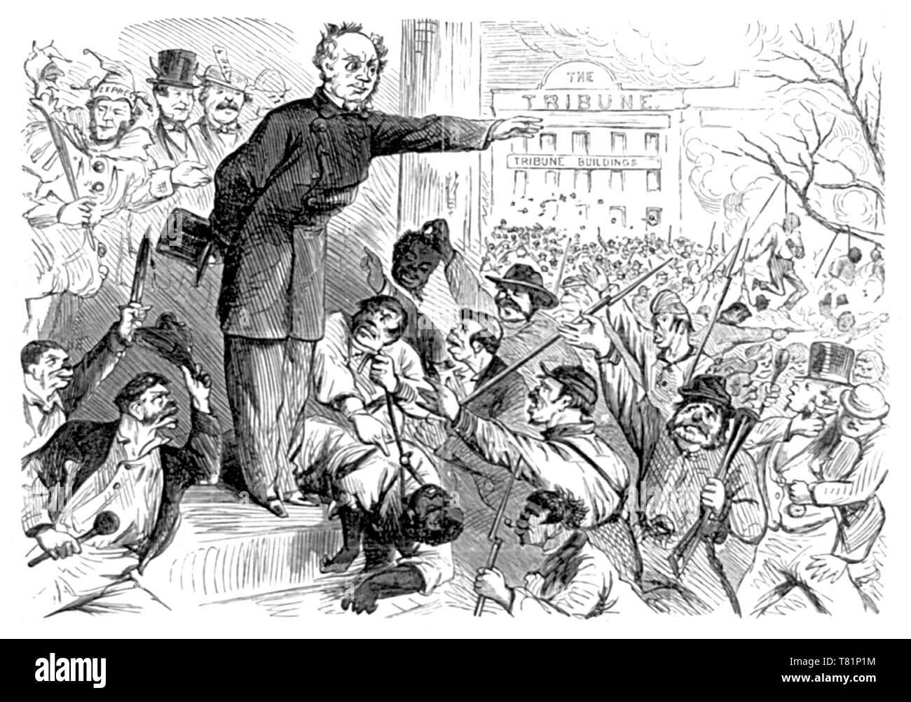 NYC Draft Riots, Governor Horatio Seymour, 1863 - Stock Image