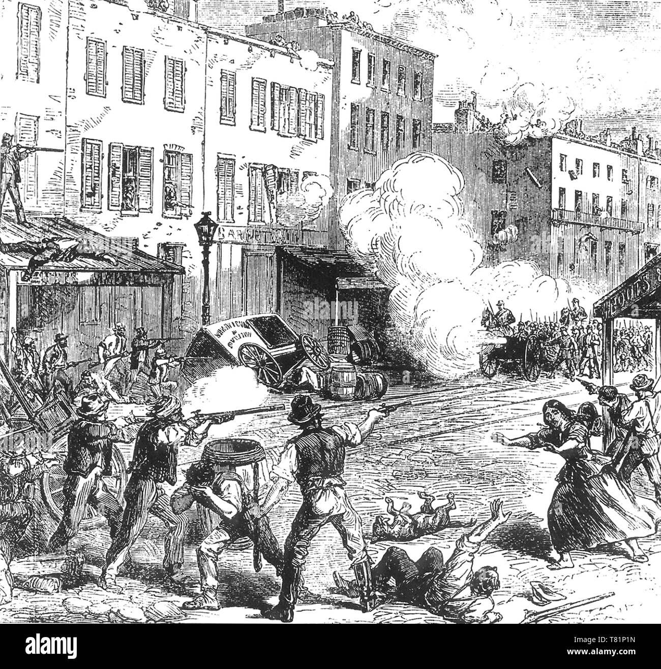 New York City Draft Riots, 1863 Stock Photo