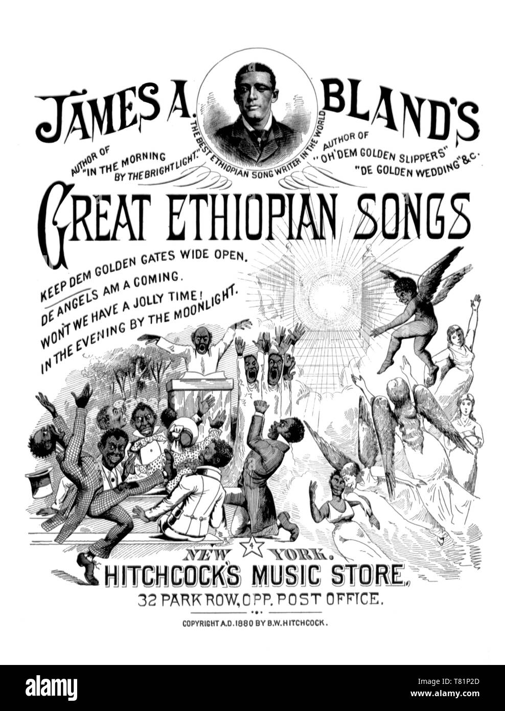James A. Bland, Great Ethiopian Songs, 1880 - Stock Image