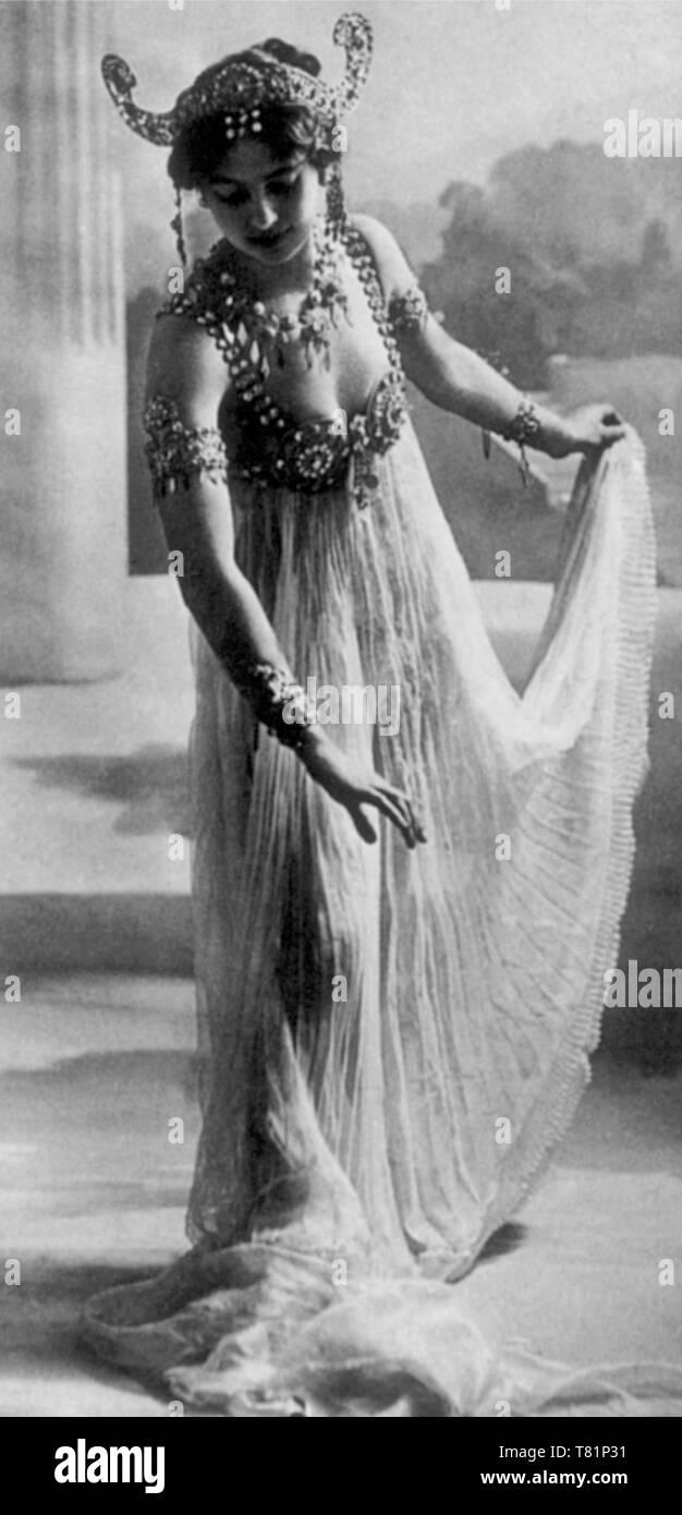 Mata Hari, Dutch Exotic Dancer and Courtesan - Stock Image