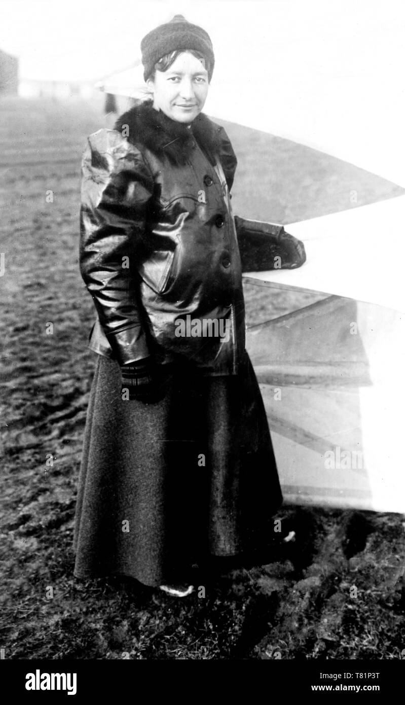 Marie Marvingt, French Athlete and Aviatrix - Stock Image