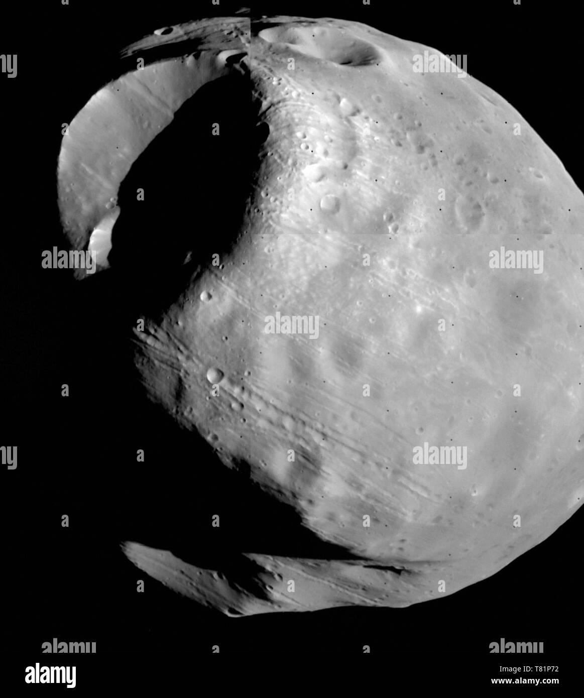 Phobos, Moon of Mars - Stock Image