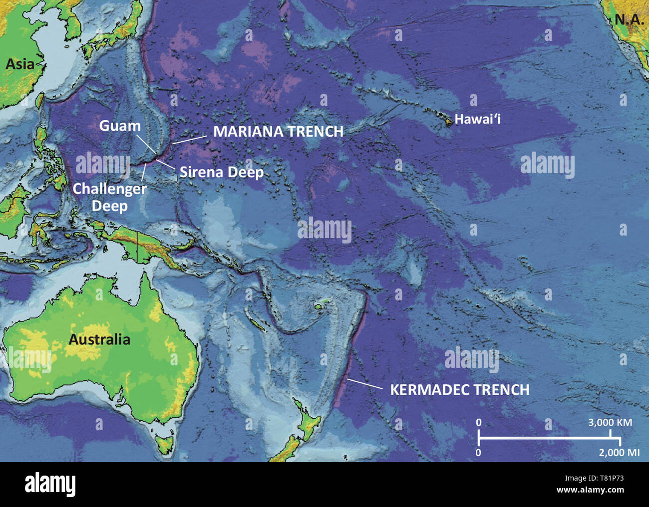 Picture of: Mariana Trench Map Stock Photo Alamy