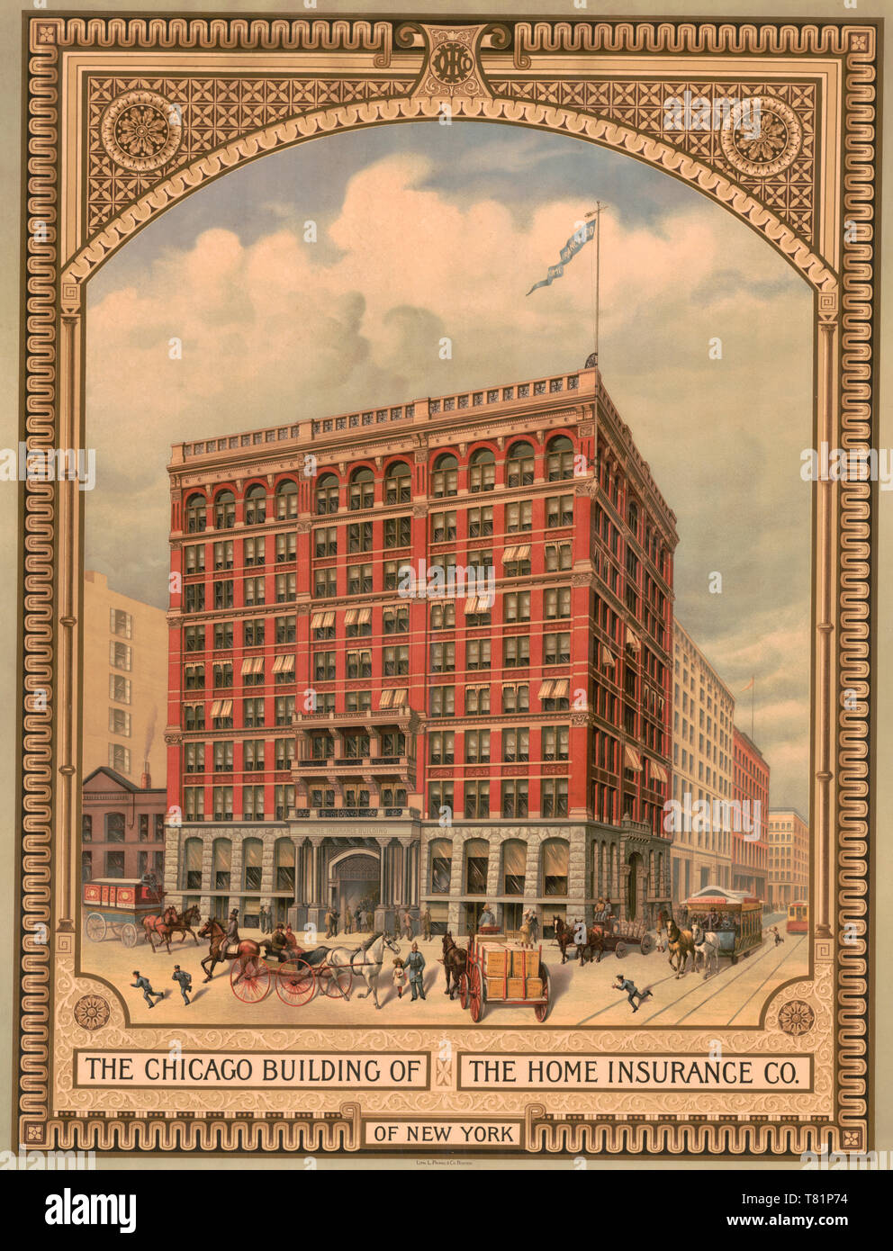 Homeowners Insurance Company >> Home Insurance Company First Skyscraper Chicago 1885