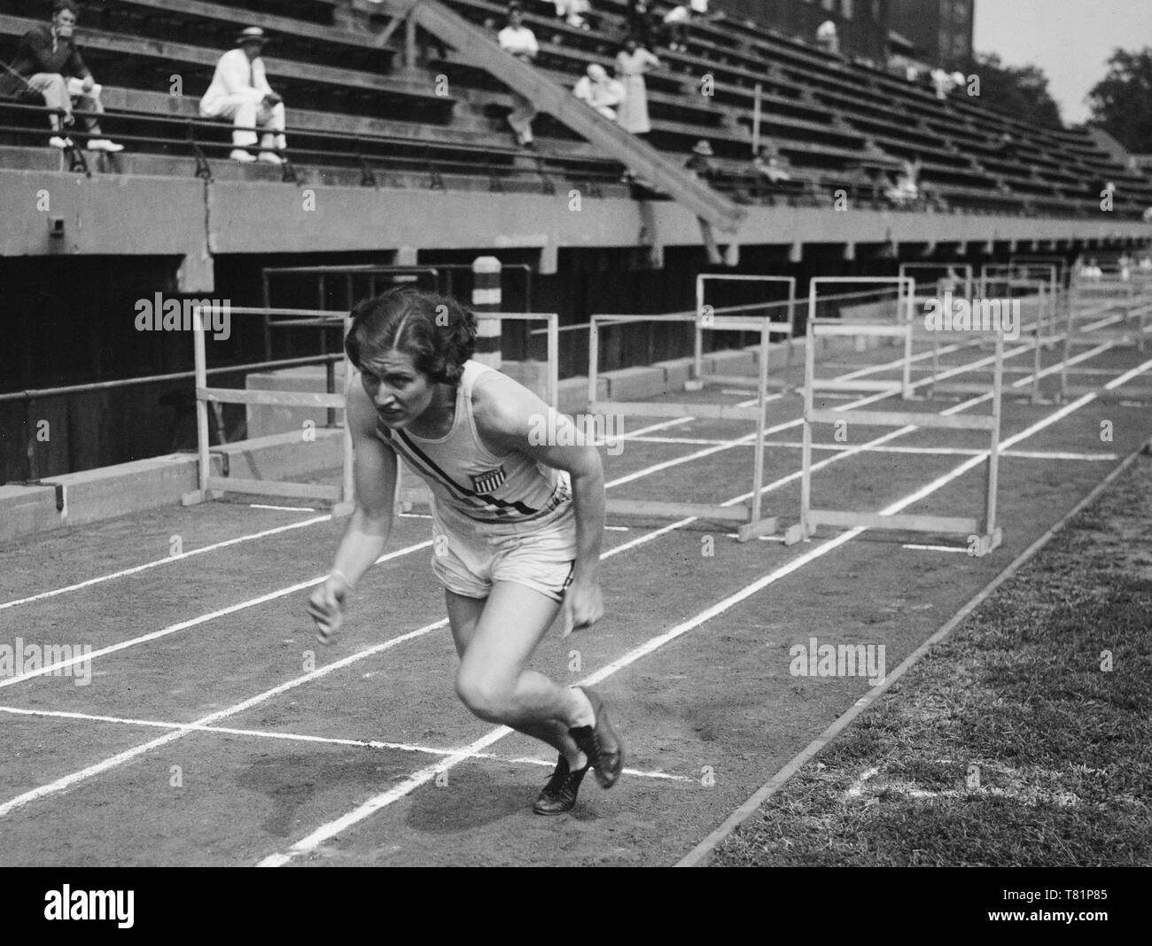 Helen Stephens, American Athlete - Stock Image