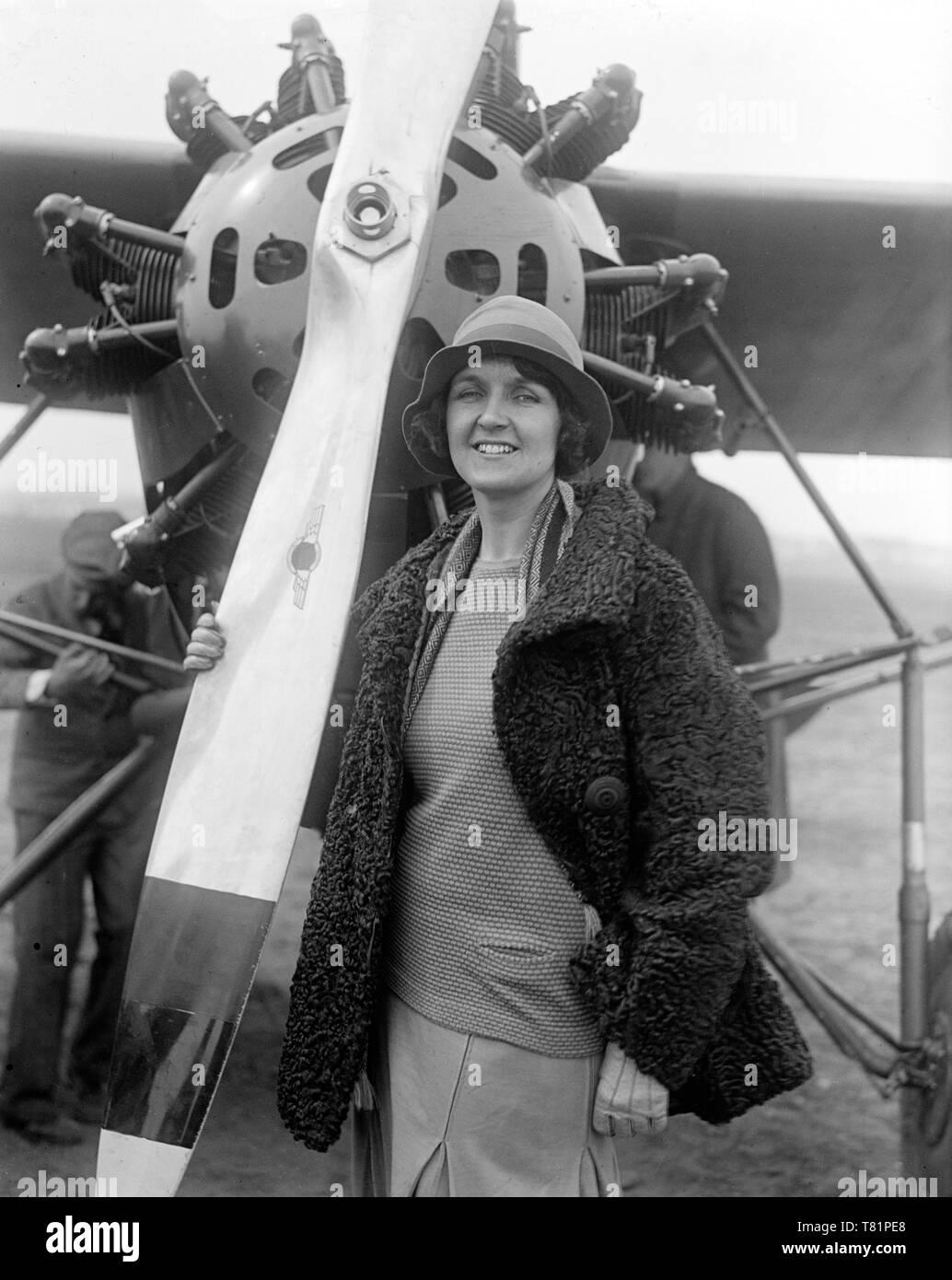 Ruth Nichols, American Aviatrix and WWII Volunteer - Stock Image