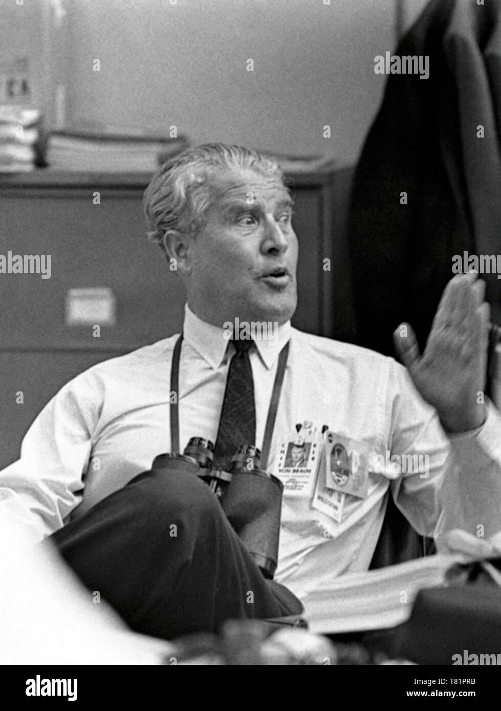 Apollo 11 Wernher Von Braun Relaxes After Launch 1969