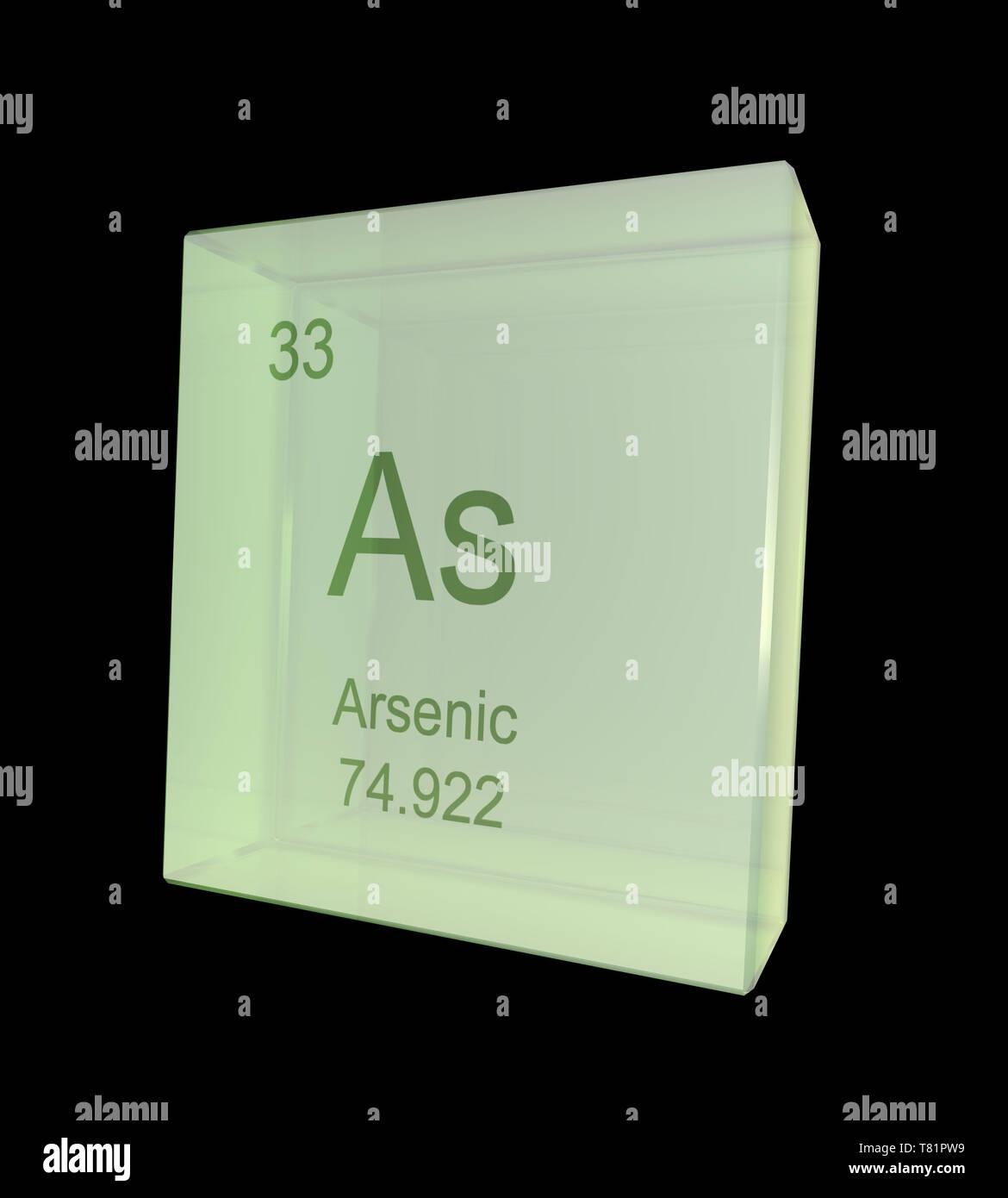 Arsenic, Chemical Element Symbol, Illustration - Stock Image