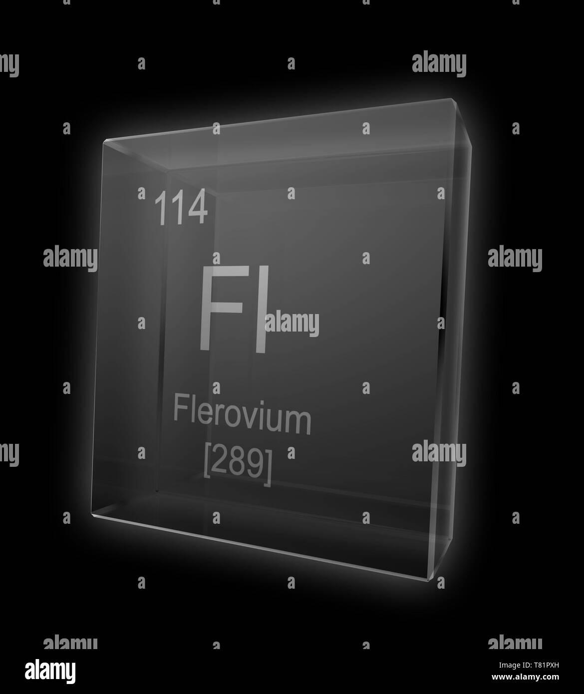 Flerovium, Chemical Element Symbol, Illustration - Stock Image