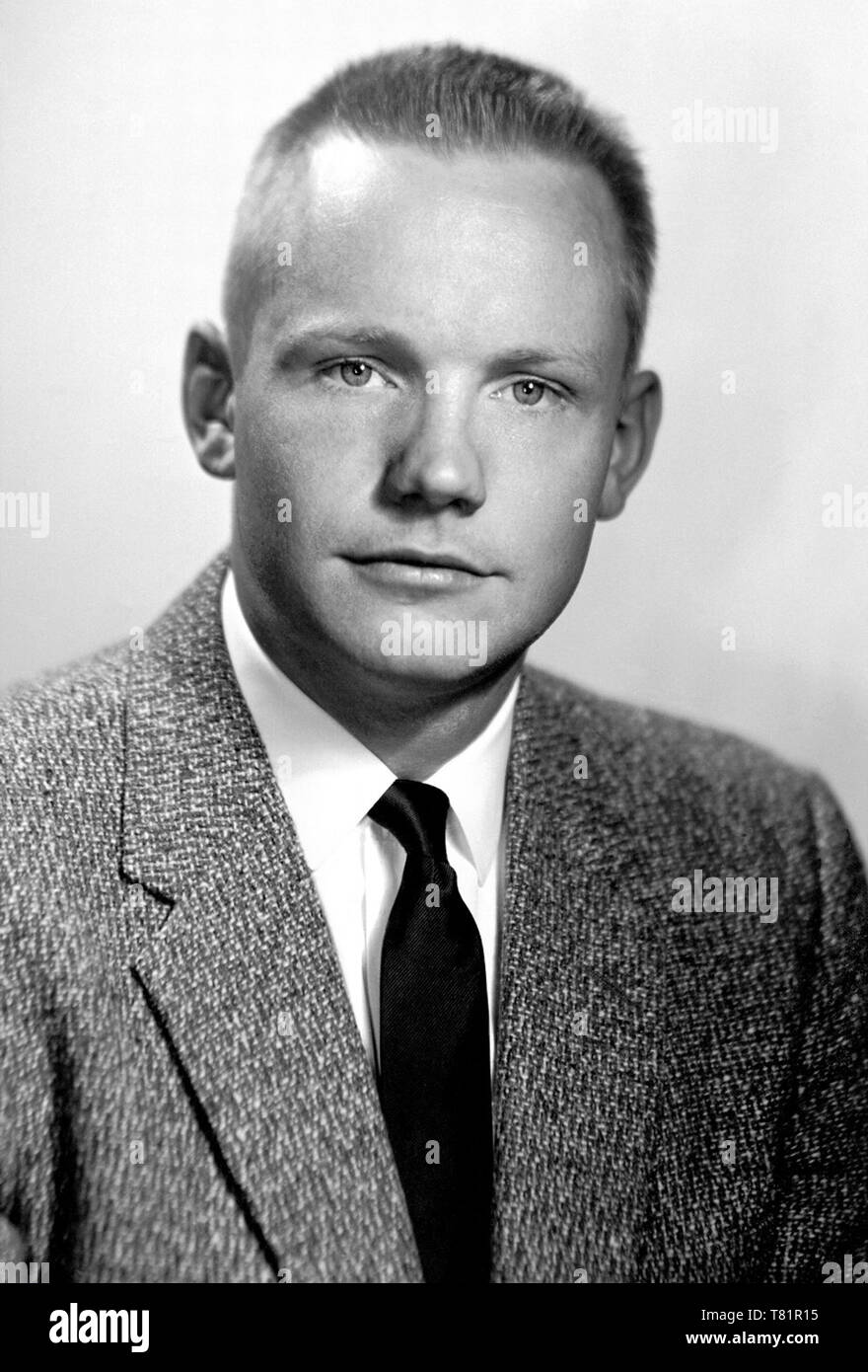 Neil Armstrong, American Astronaut and Test Pilot Stock Photo