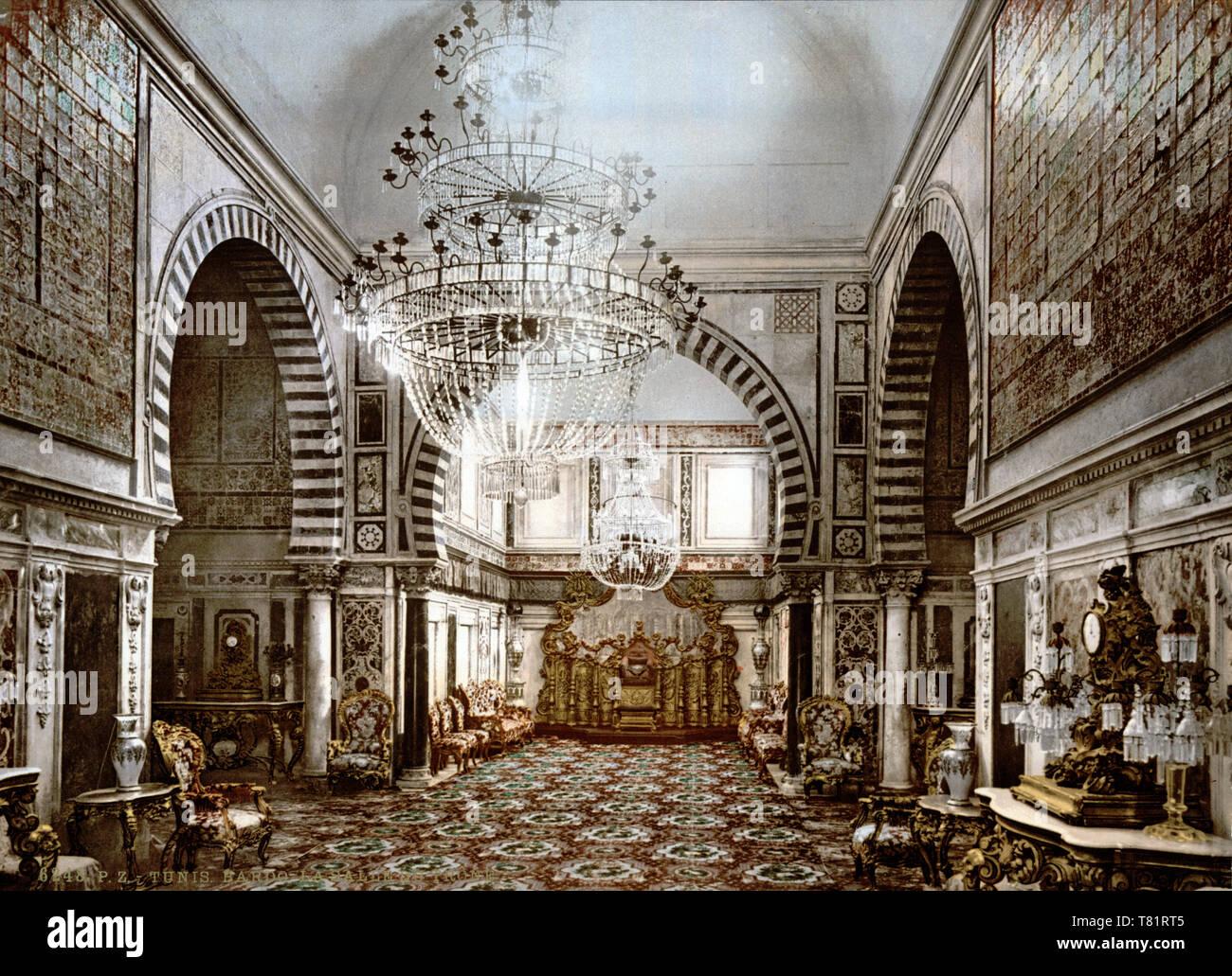 Bardo National Museum, Throne Room, 1899 Stock Photo