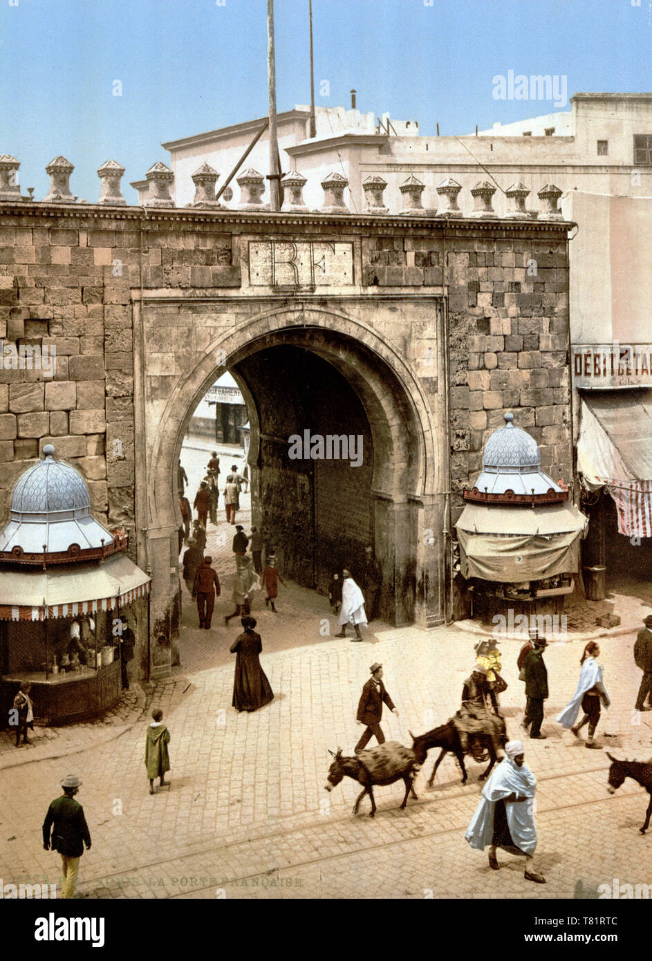 Tunis, Bab el Bhar, 1899 Stock Photo