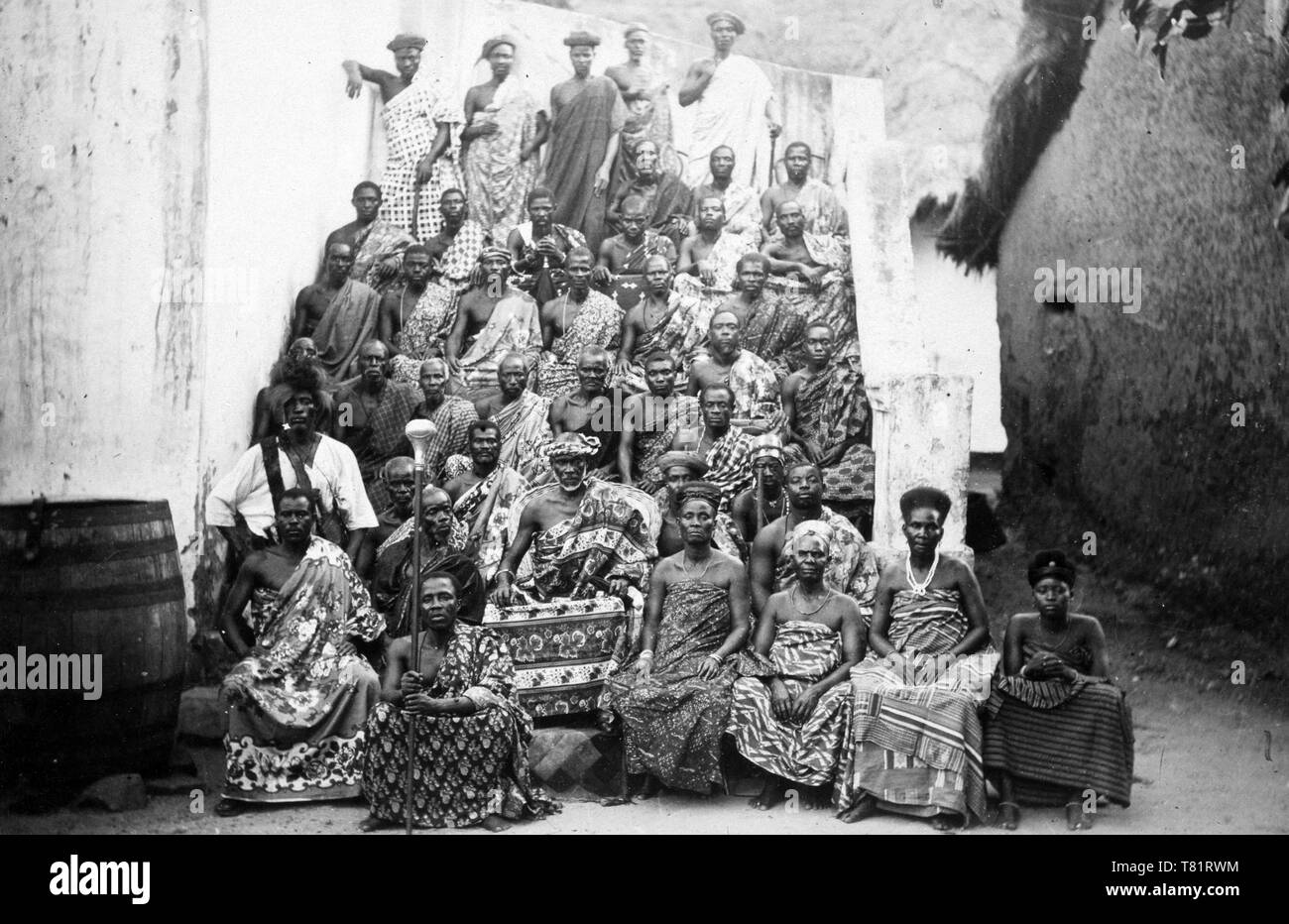 King Kobina of Elmina, Ghana, 1890s - Stock Image