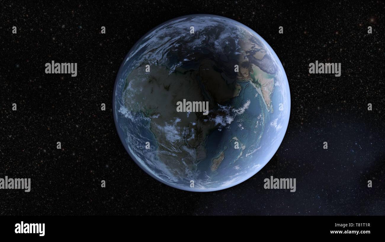 Earth, Africa, Illustration - Stock Image