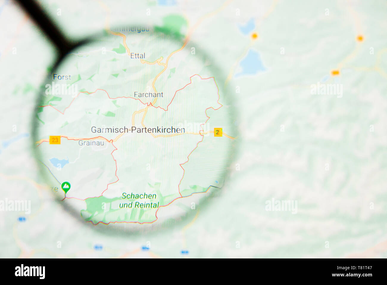 Map Of Germany Garmisch.Garmisch Partenkirchen City In Germany Bavaria Visualization
