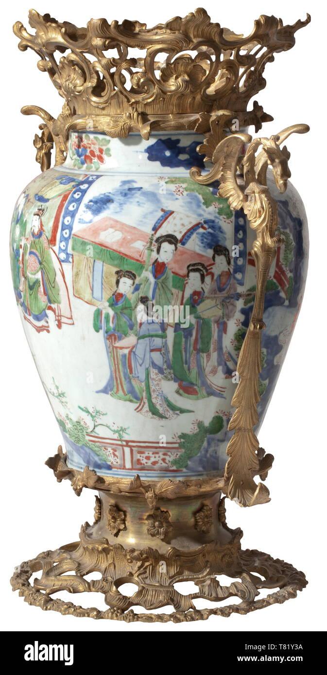 Jingdezhen Famille Rose Porcelain Hand-painted Zhaogongming Mask Vase
