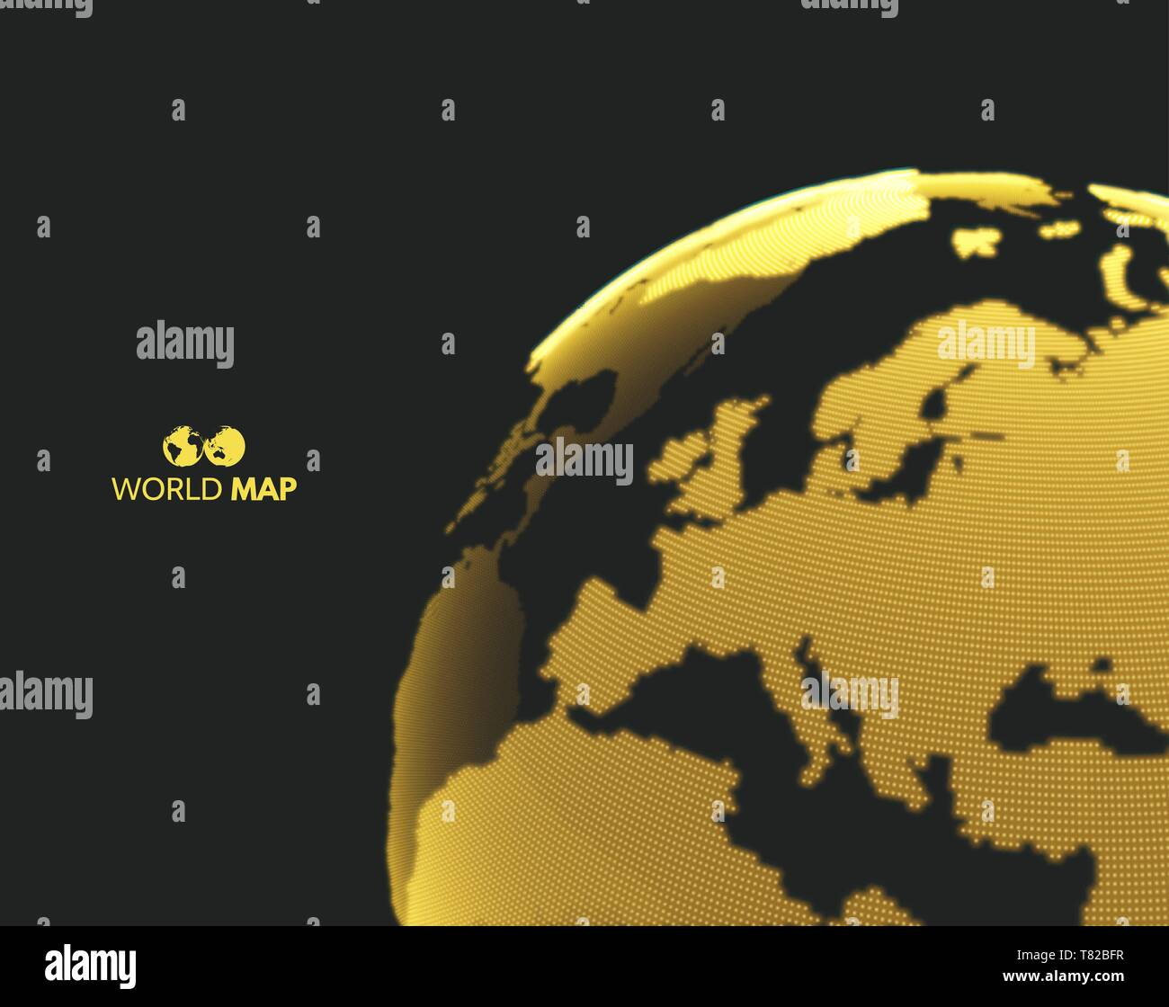 Africa and Europe. Earth globe. Global business marketing concept. Dotted style. Design for education, science, web presentations. - Stock Vector