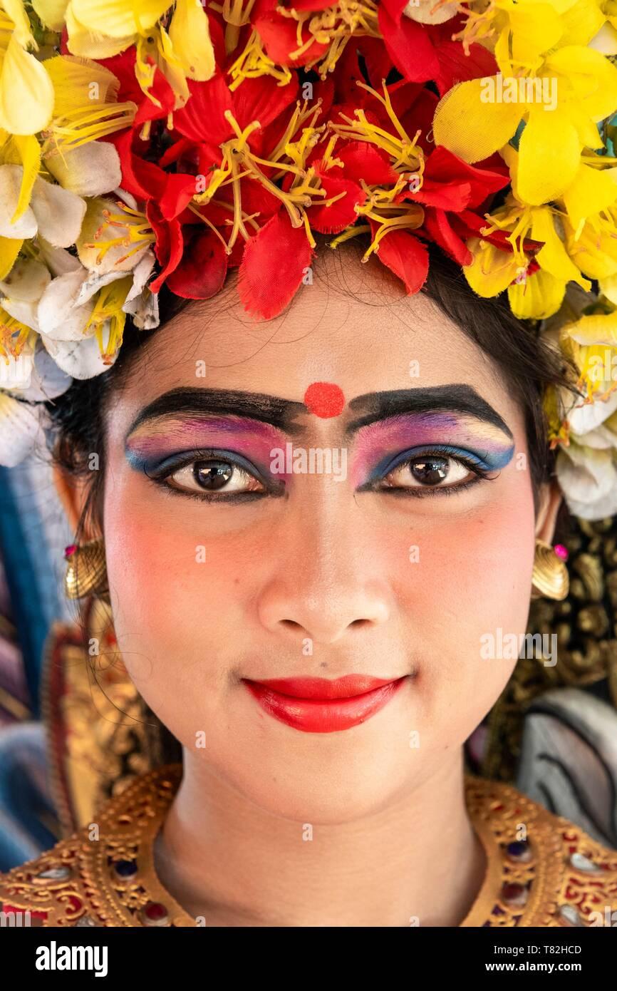 Indonesia, Bali, Ubud, traditional dancer of Barong dance - Stock Image