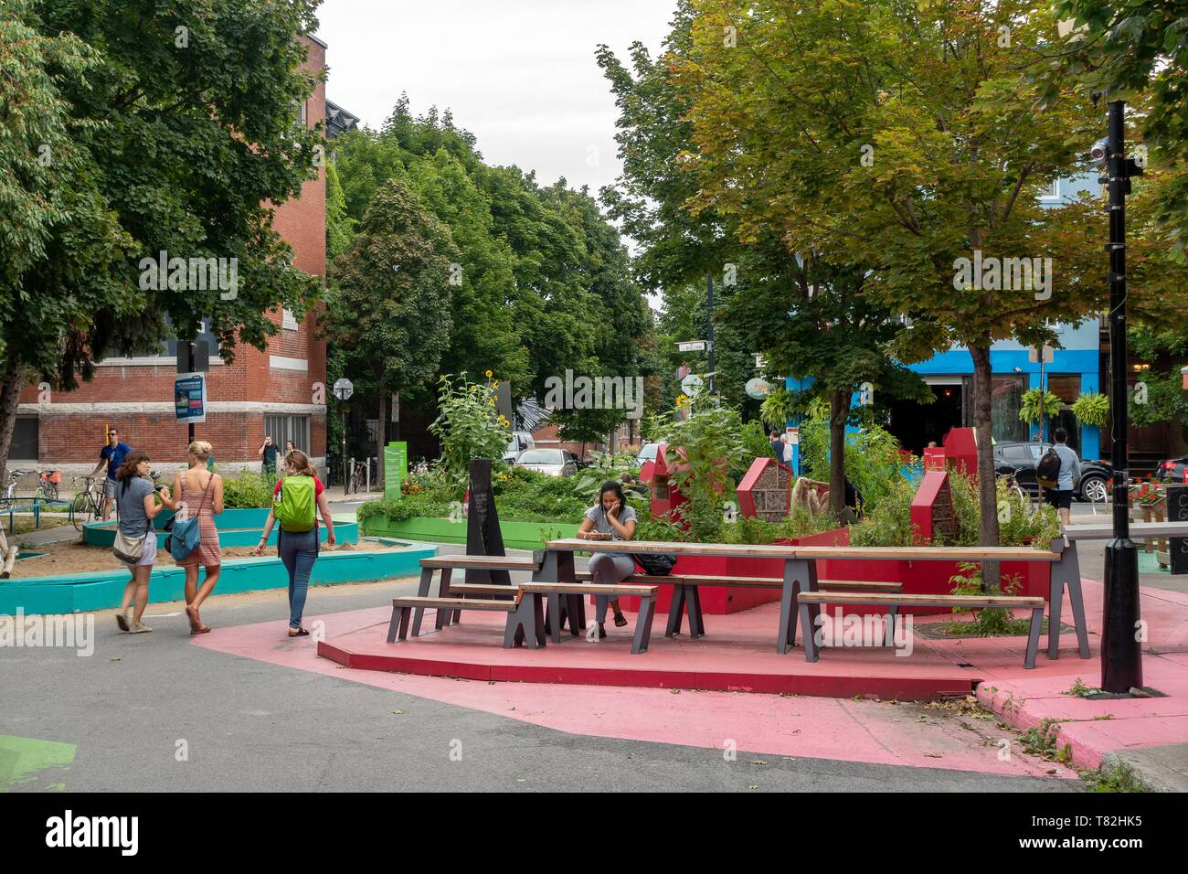 Canada, Province of Quebec, Montreal, Plateau-Mont-Royal, Roy Terraces, Urban Planning - Stock Image