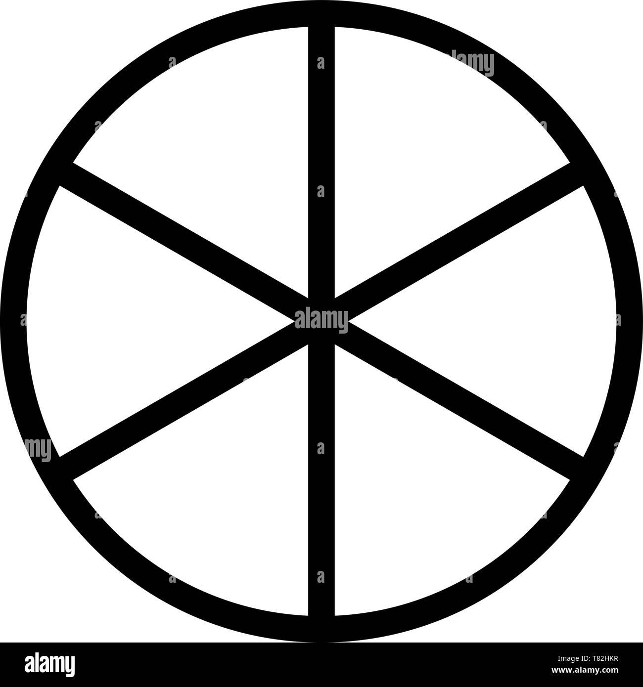 sun wheel mandala circle of life order symbol fate cycle rebirth - Stock Vector