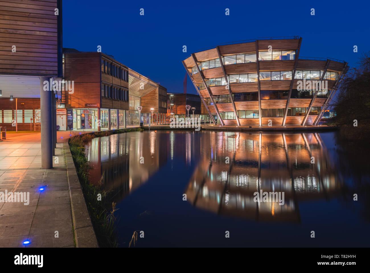 University of Nottingham Jubilee Campus in England. - Stock Image