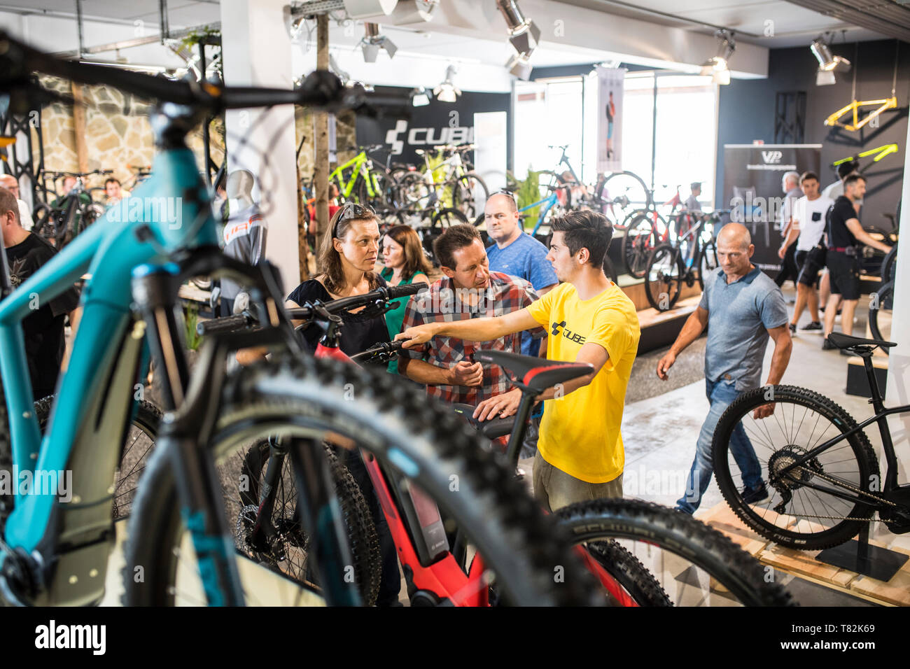 Open day at the german bicycle production company CUBE Stock