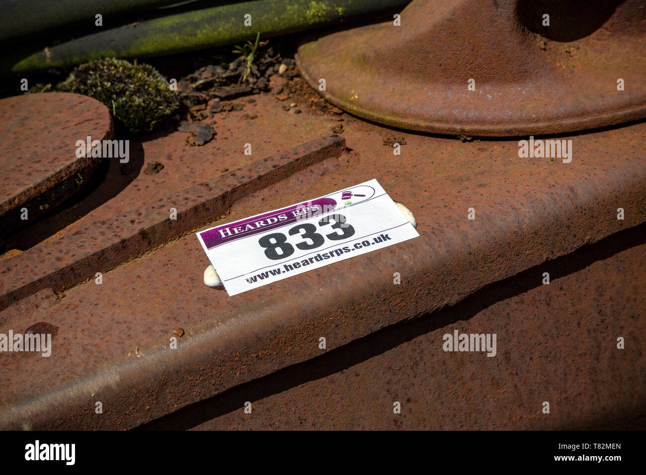 Heards RPS, Rural Chartered Surveyor, rural auctioneers in Devon, Auctions,Dispersal Sale of Farm Machinery, - Stock Image
