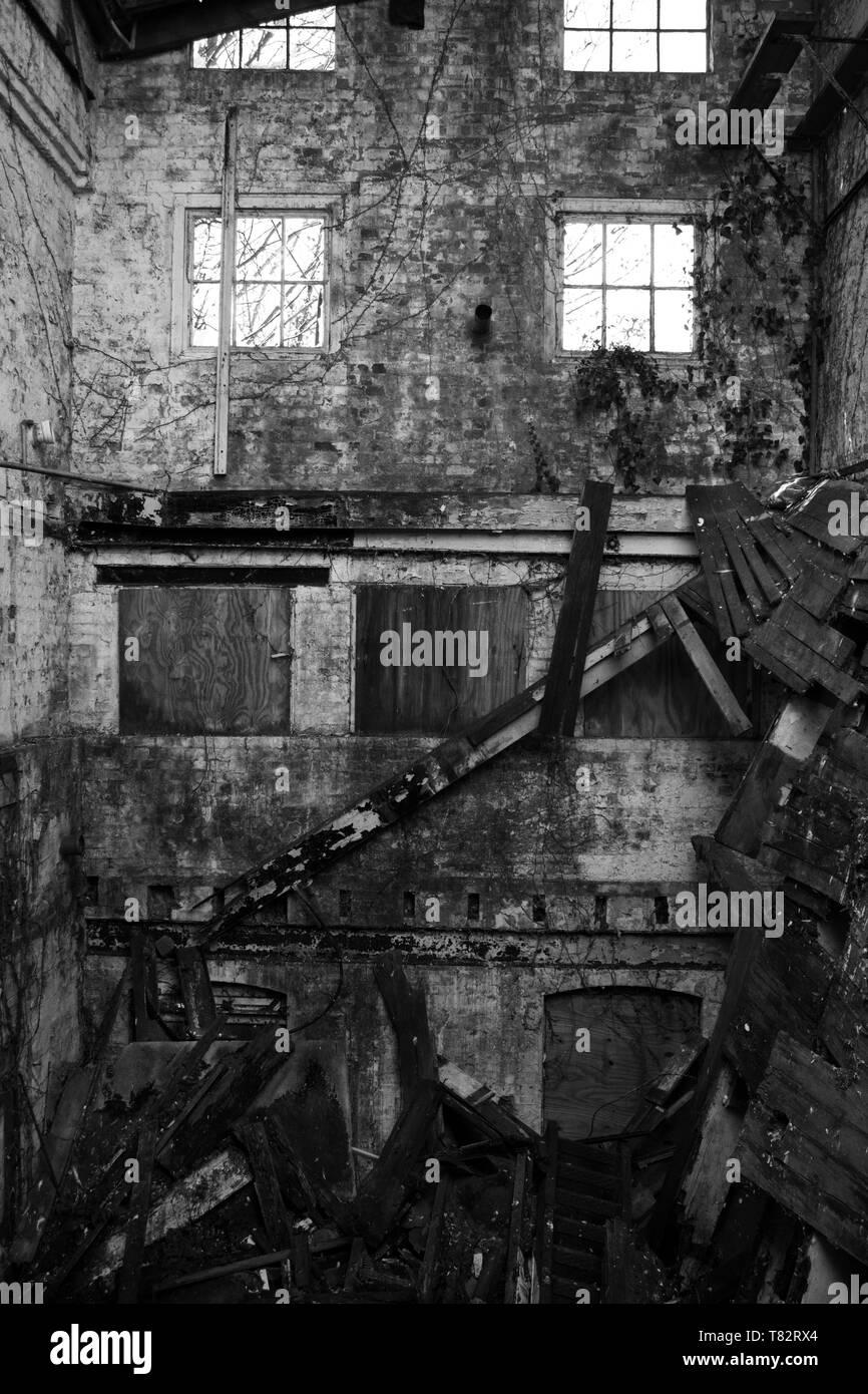 Abandoned Building - Stock Image