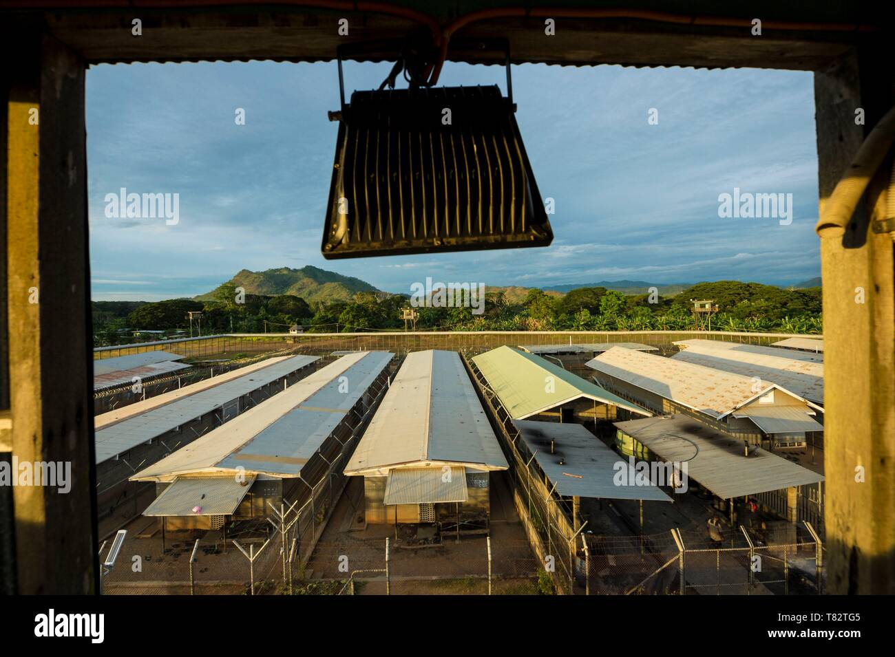 Papua New Guinea, Gulf of Papua, National Capital District, Port Moresby City, Bomana Prison, Maximum Security Area - Stock Image
