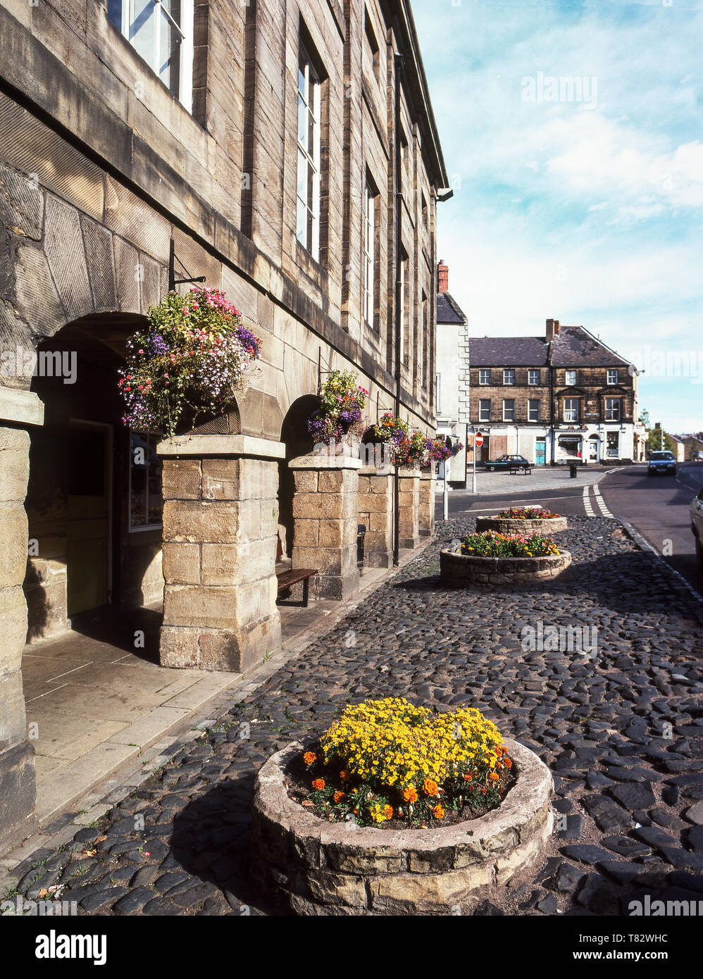 Alnwick Town Hall 1826. Northumberland,Harry Potter country. Approximately 50 miles north of Newcastle upon Tyne, England. - Stock Image