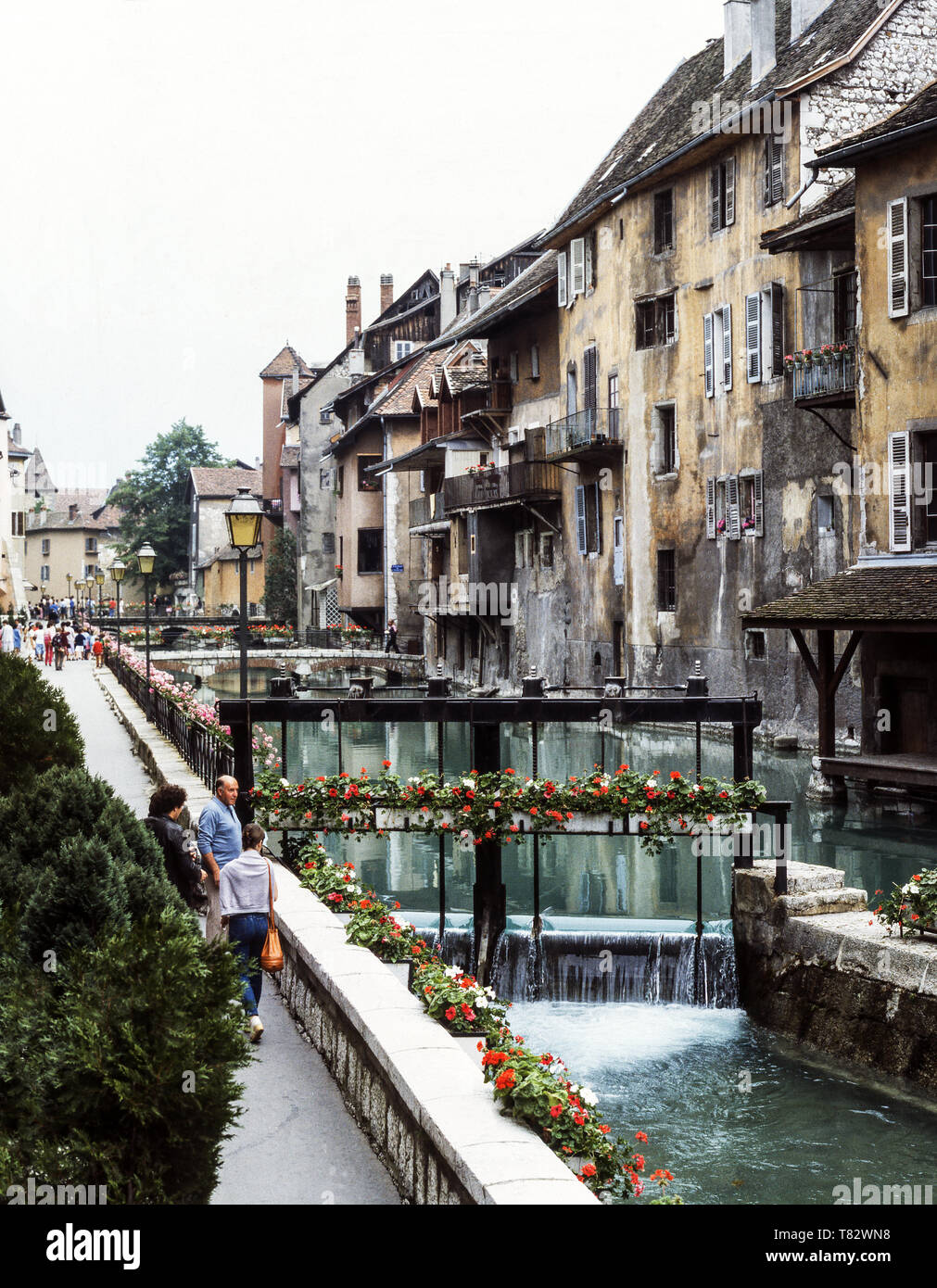 The medieval town of Annecy (Dept. Haute-Savoie) - Stock Image