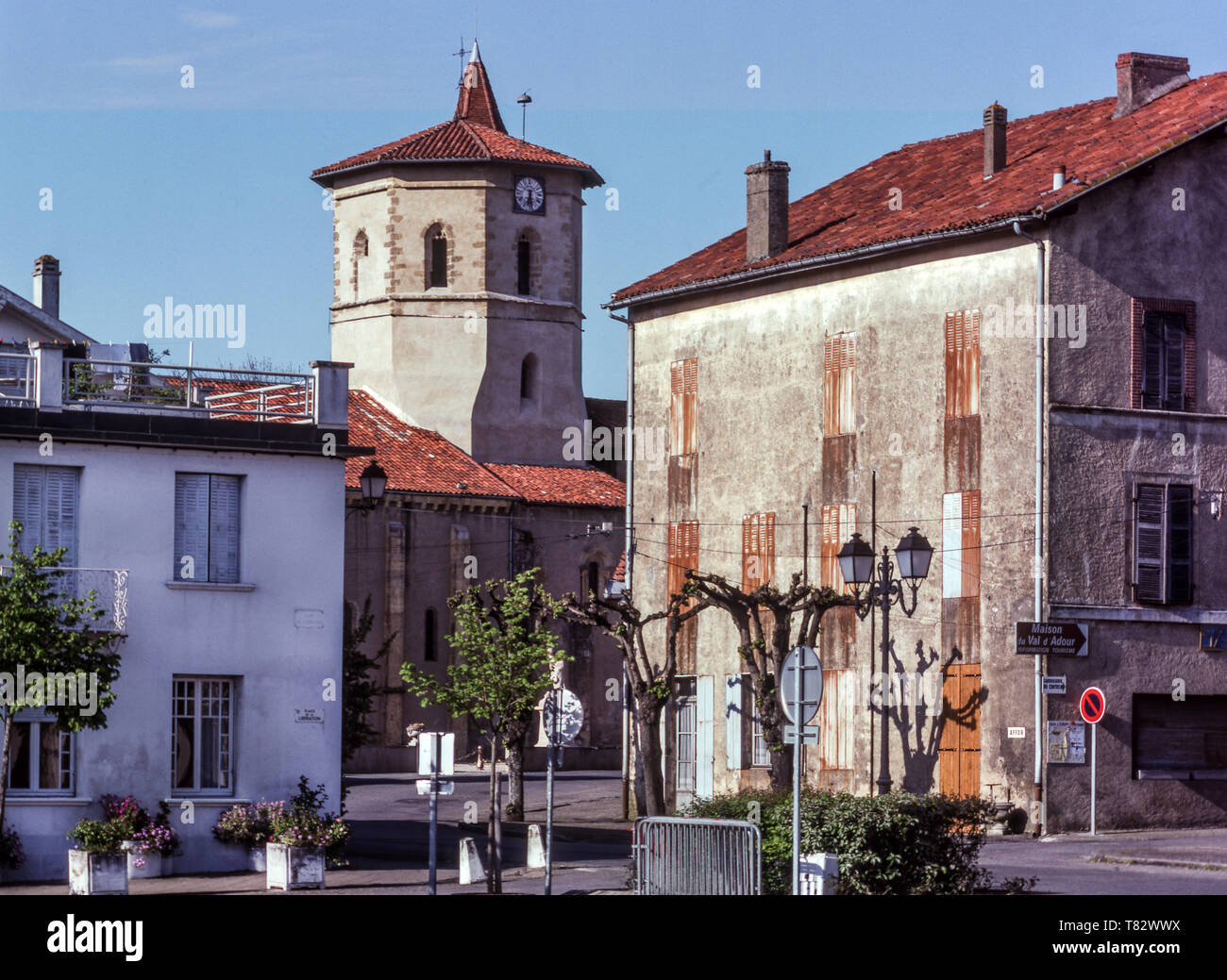 The market town of Maubourguet in the Department of Hautes-Pyrenees.France - Stock Image