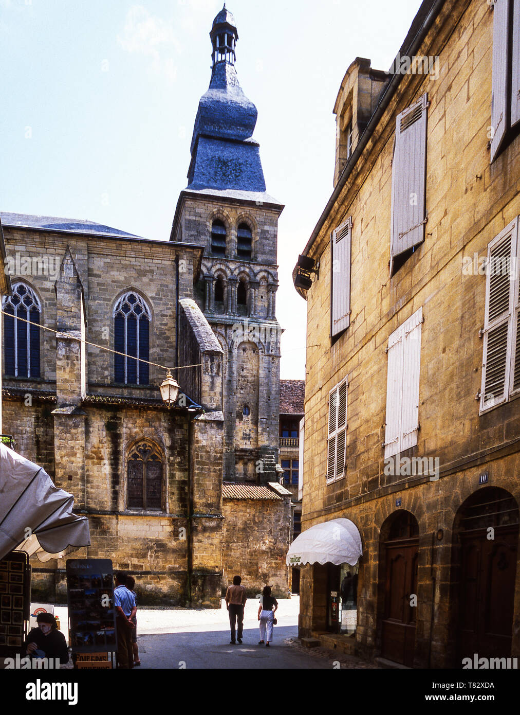 Sarlat-le-Caneda. The Cathedral of St,Sacerdos in this medieval town in the Dordogne department.France. - Stock Image