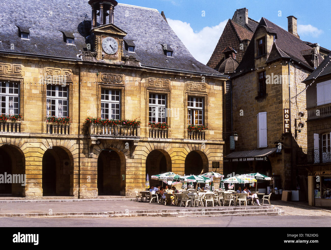 Sarlat-le-Caneda. The Town Hall of this medieval town in the Dordogne department.France. - Stock Image