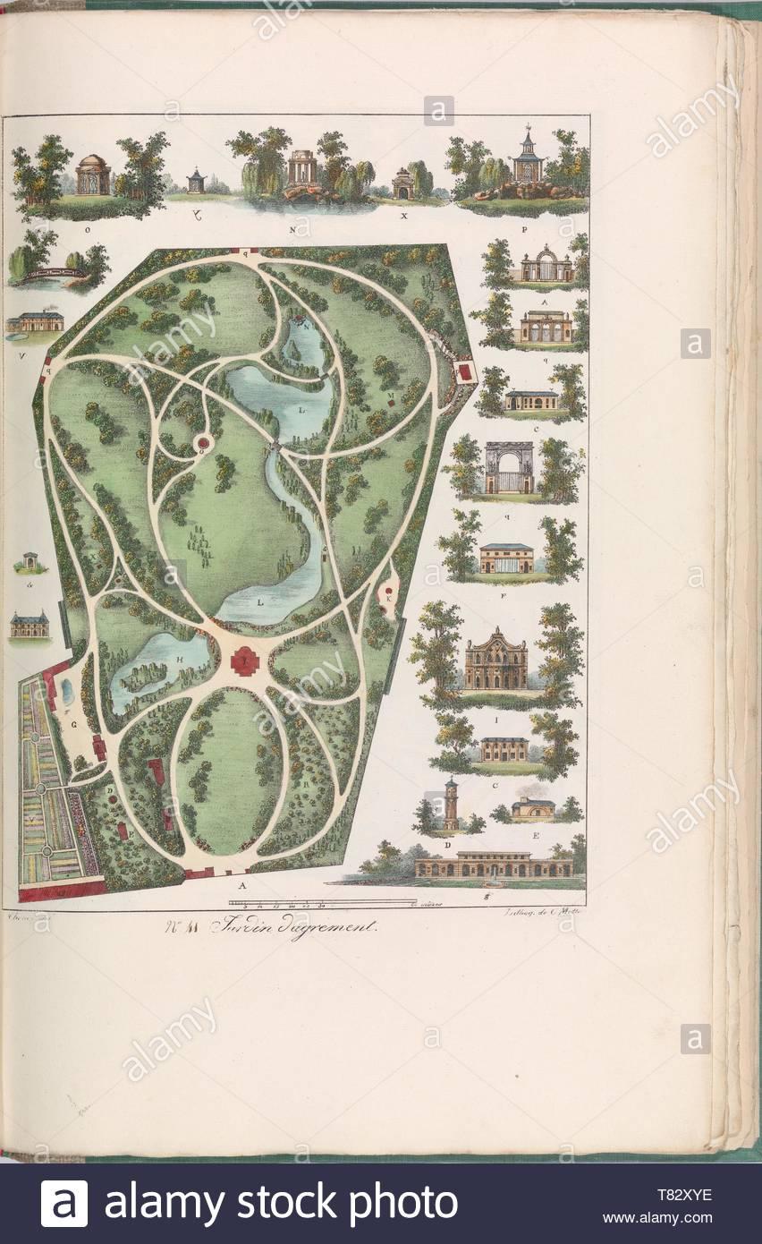 Gabriel Thouin-Plans Raisonns de Toutes les Espces de Jardins - Stock Image