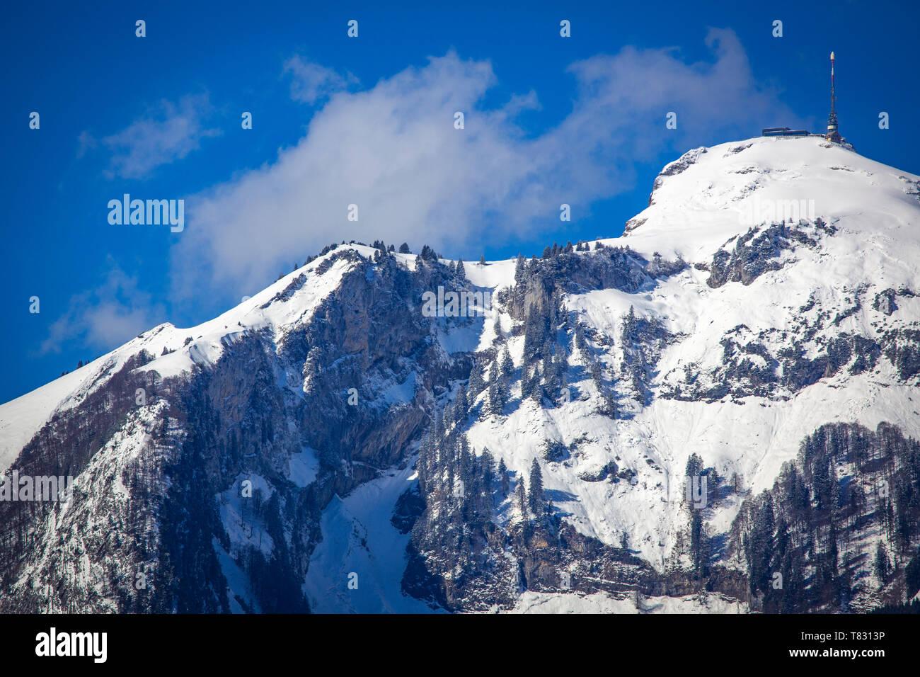 Hoher Kasten im Rheintal der Ostschweiz - Stock Image